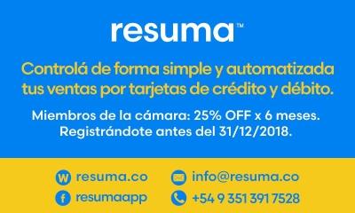 RESUMA | Beneficio exclusivo 25% off por 6 meses y descuentos especiales en las terminales