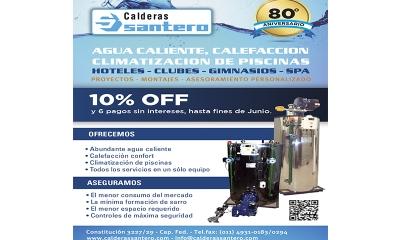 CALDERAS SANTERO | 10% OFF O 6 Pagos sin interés