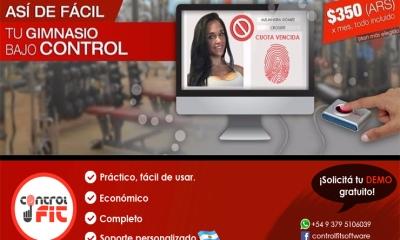 CONTROL FIT | un software práctico que te permitirá tener todo el gimnasio bajo control.