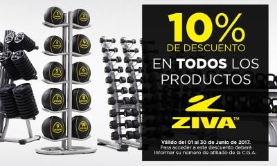ZIVA | 10% OFF En todos los productos de peso libre