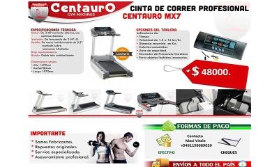 CENTAURO | 10% de descuento en cinta de correr profesional MX7